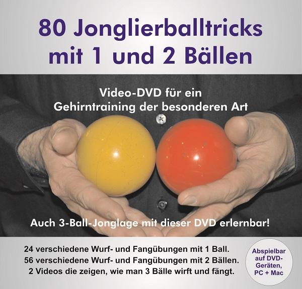 Video-DVD 80 Jonglierballtrcks mit 1 und 2 Bällen